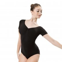 ETUDE Tactel Leotard with Short Sleeves in Black