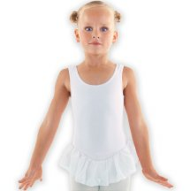 BALLERINA White Leotard With Skirt in Cotton Spandex