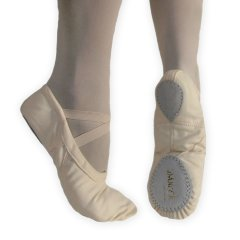 EXCEL Pink Normal/Wide Ballet Shoe Canvas Split Sole