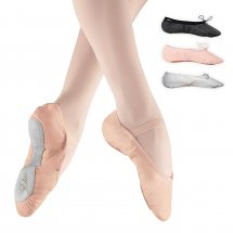 Elite Ballet Shoes Leather Full Sole with Pre-Attached Elastics