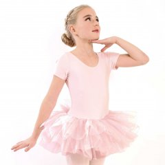 ALEXANDRA Tutu with Short Sleeves in Ballet Pink