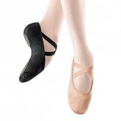 StretchPro Stretch Canvas Split Sole Ballet Shoes in BLACK