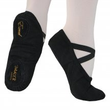 EXCEL Black Narrow/Normal Ballet Shoe Canvas Split Sole