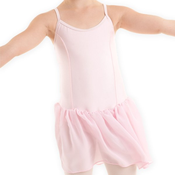 CINDERELLA Leotard with long skirt in shiny spandex larger image