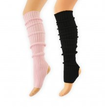 Black or Pink Legwarmer with Stirrup 60 cm - 23.6 inch