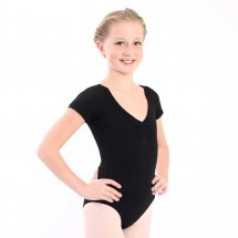 ETUDE Tactel Leotard with Short Sleeves for Children in Black