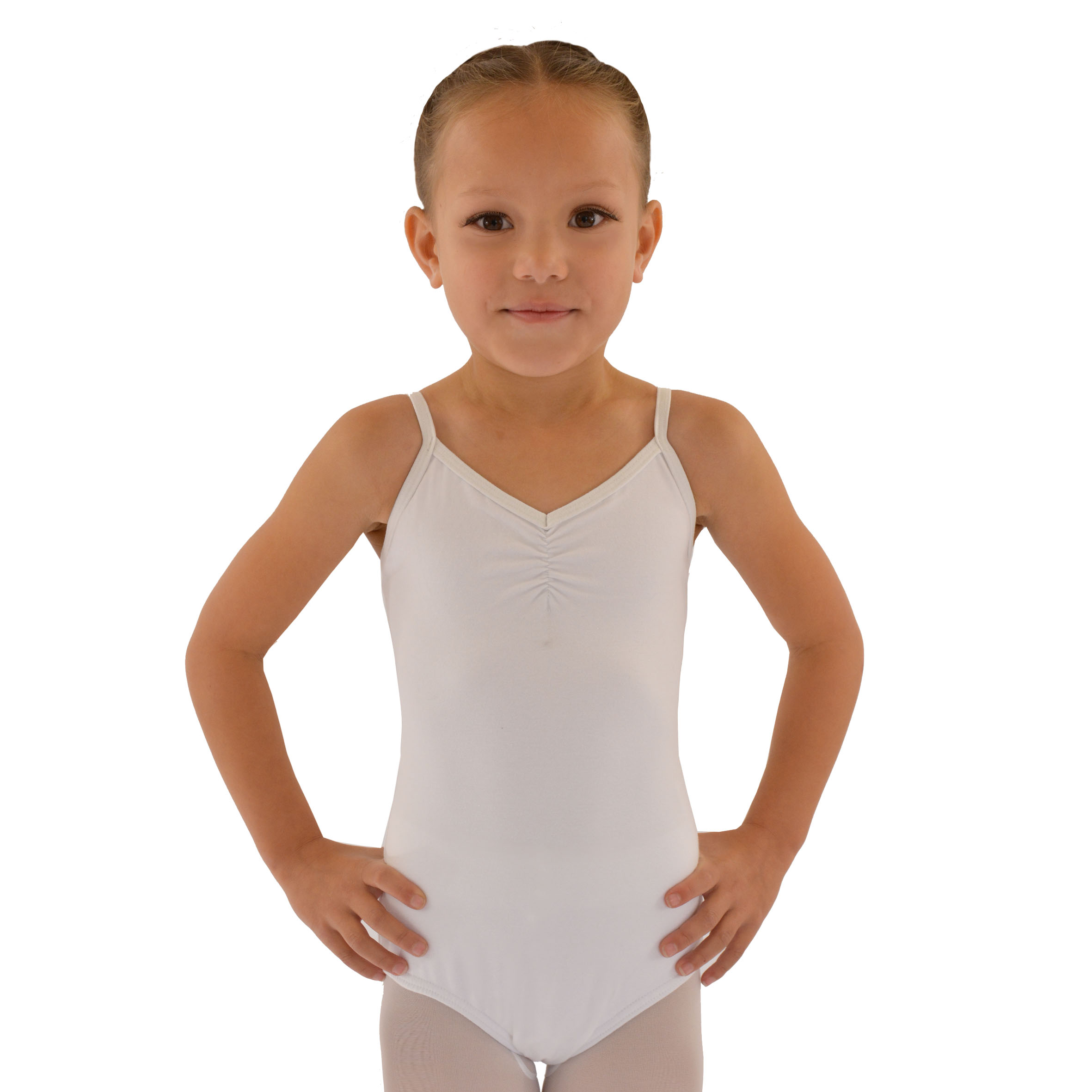 Sparkle tie-dye stretch velvet leotard has attached, adjustable nude shoulder straps and white spandex ballet legline trunks. Attached pancake tutu has top layer of .